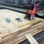 Laying Timber into Precast Beds
