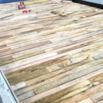 Timber Pattern in Precast Bed